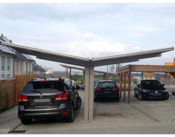 Carport Linea Typ 60 Y-Ausführung Edelstahl-Look