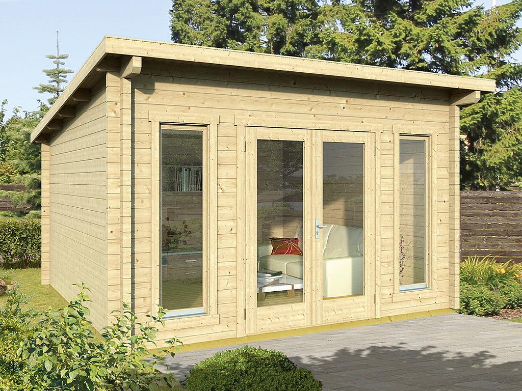 gartenhaus blockbohlenhaus trondheim 70 g xl 70 mm naturbelassen wf1388. Black Bedroom Furniture Sets. Home Design Ideas