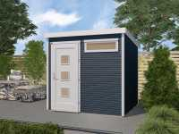 Gartenhaus Designhaus wekaLine 171 Gr. 1 28 mm anthrazit lasiert