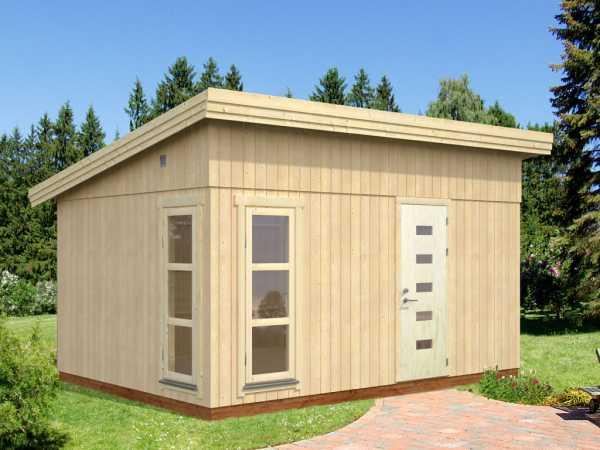 "Gartenhaus Blockbohlenhaus ""Etta"" 13,6 m² 18+70 mm naturbelassen"