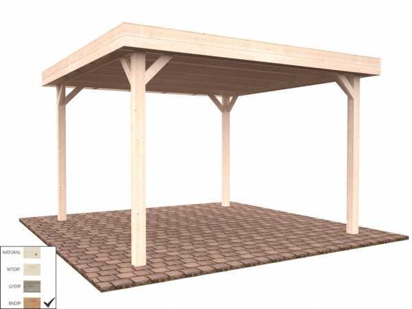 "Pavillon ""Lucy"" 12,2 m² braun tauchimprägniert"