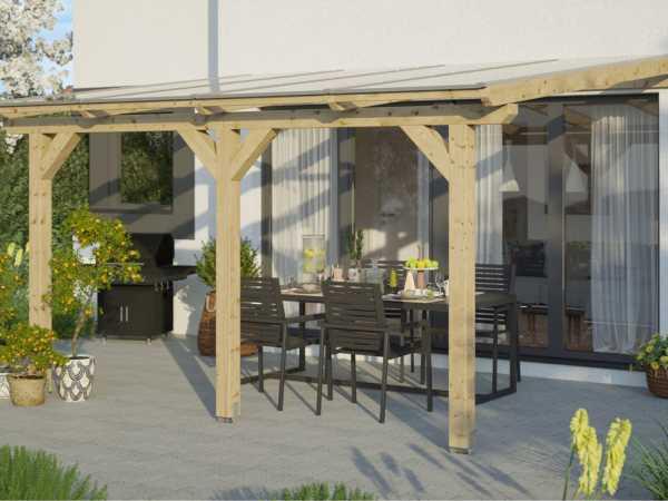 Terrassenüberdachung Andria naturbelassen