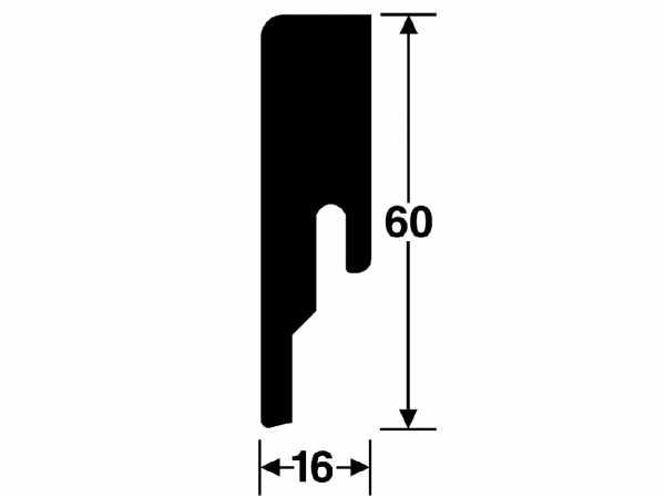 Sockelleiste Stieleiche natur 6983