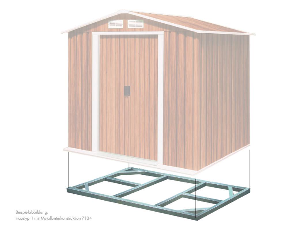 Metall-Unterkonstruktion fu00fcr Metallgeru00e4tehaus Pent Roof ...