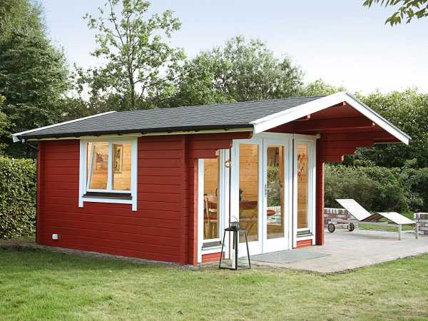 Gartenhaus Blockbohlenhaus Hammerfest 70-F XL 70 mm naturbelassen