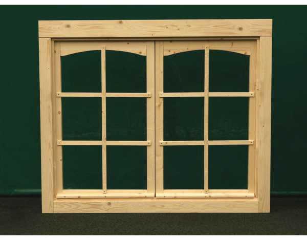 Doppelfenster für 44 mm Gartenhaus