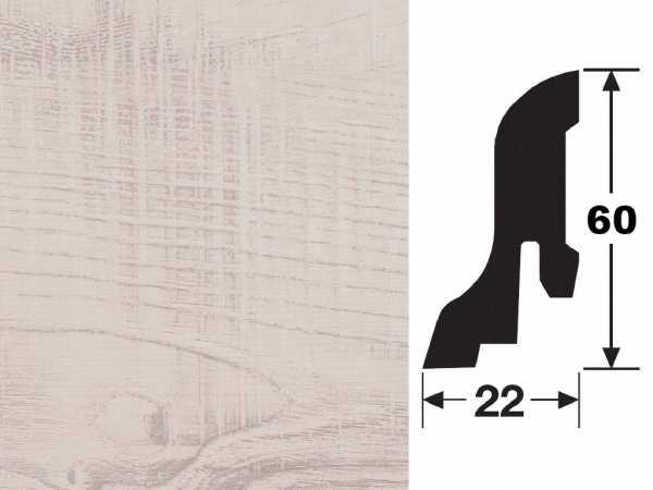 Sockelleiste Pinie weiß 2208 Profil 4 K Dekor