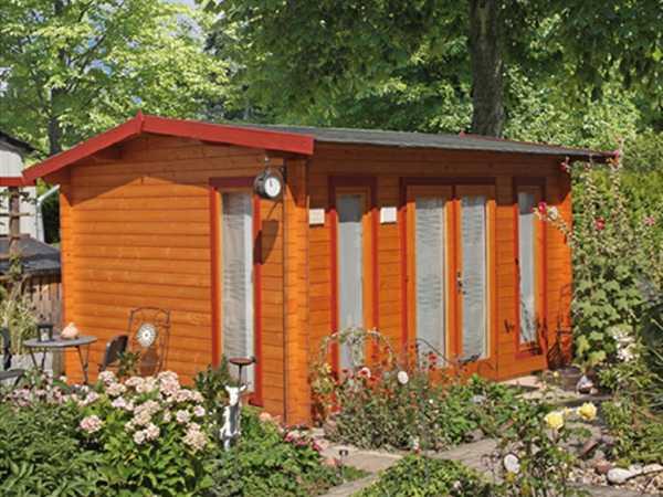 "Gartenhaus Blockbohlenhaus ""Helgoland 40-B"""