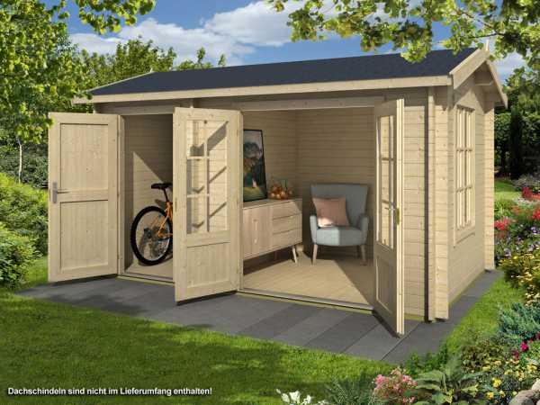 gartenhaus alfiero 1 34 mm naturbelassen 760011. Black Bedroom Furniture Sets. Home Design Ideas