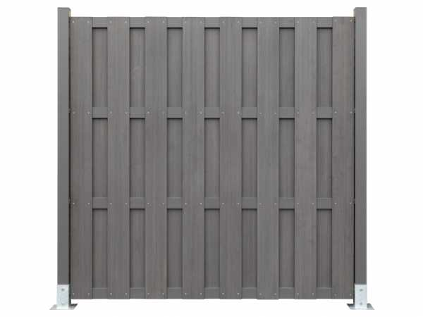 WPC Sichtschutzzaun FUN-Fence-Ready Ultrashield Multigrey