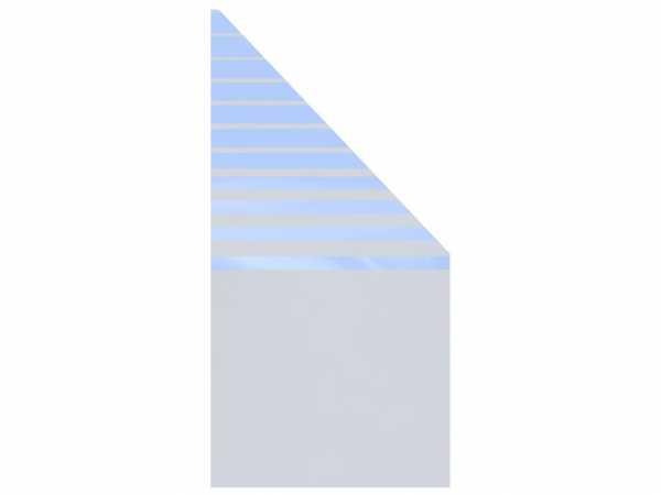 Sichtschutzzaun SYSTEM GLAS BETA Abschlusselement Rechts