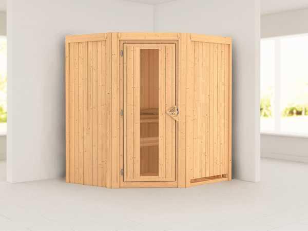 Systemsauna Taurin Holztür mit Isolierglas