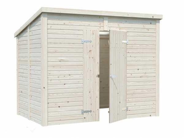 Gerätehaus Leif 4,2 m² 16 mm naturbelassen