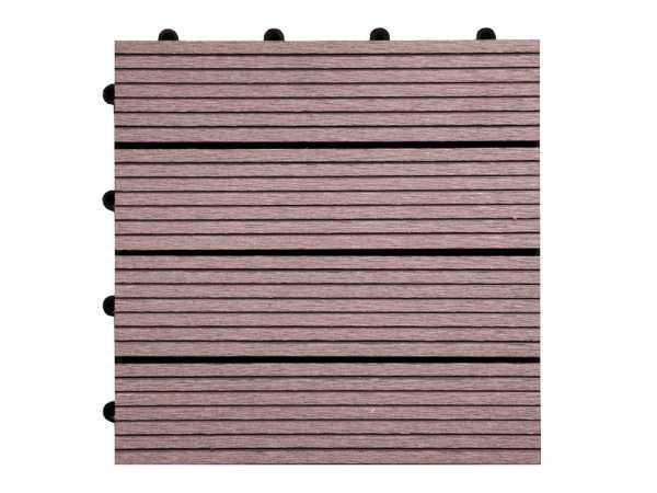 WPC Terrassenfliese Basic braun