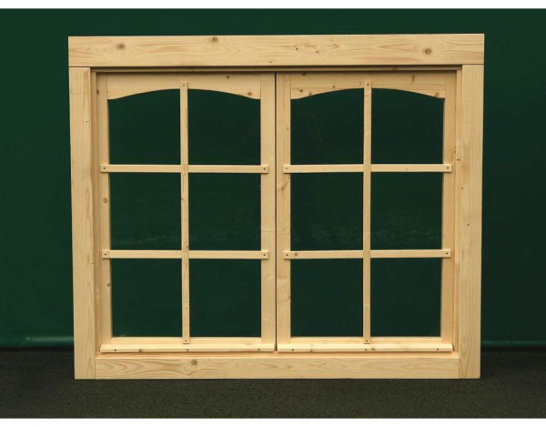 Doppelfenster für 28 mm Gartenhaus
