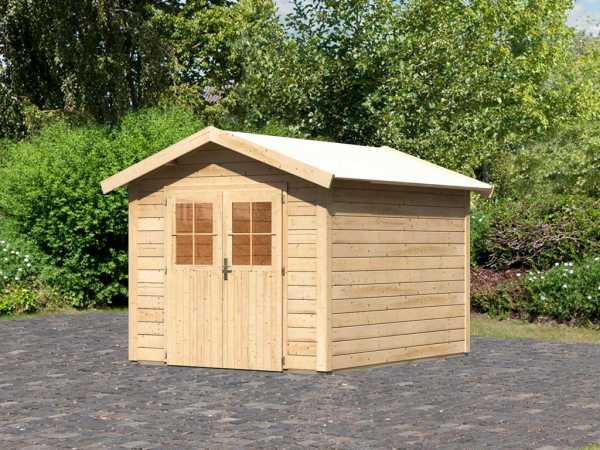 Gartenhaus Espelo 4 CLASSIC 28 mm naturbelassen