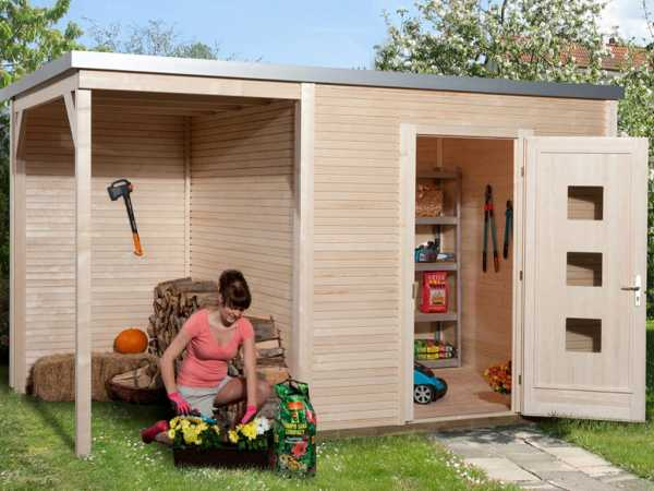 Gartenhaus Designhaus wekaLine 413 A Gr. 1 45 mm naturbelassen