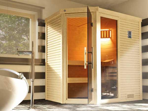 Sauna Massivholzsauna Cubilis ECK 2