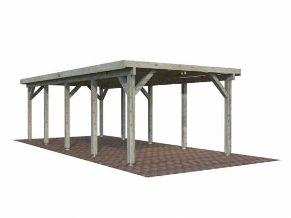 Carport Karl 23,1 m² grau tauchimprägniert