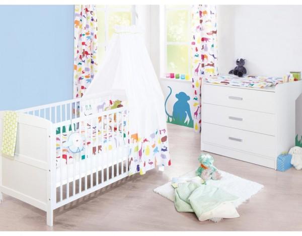 """Kinderzimmer Sparset """"Viktoria"""" breit, weiß lackiert"""