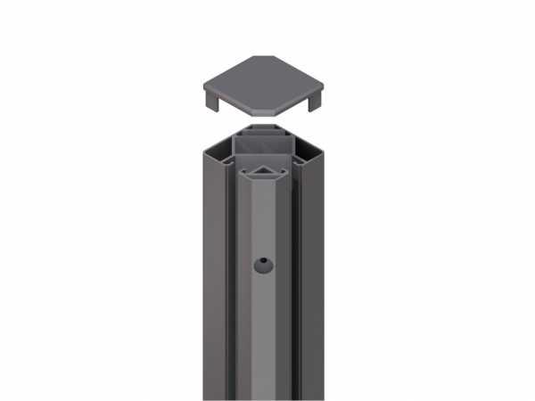 Eck-Klemmpfosten SYSTEM GLAS anthrazit