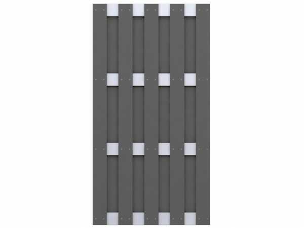 Sichtschutzzaun JUMBO WPC Halbelement Rechteck Anthrazit-Aluminium