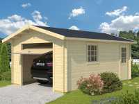 Garage Antigua inkl. Schwingtor 44 mm naturbelassen