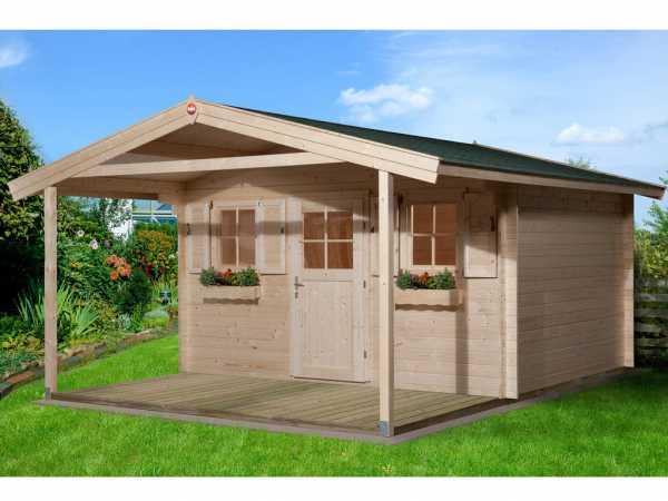 Gartenhaus 110 A Gr. 2 28 mm naturbelassen