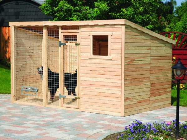 Hundezwinger mit 2 x Erweiterung 2 m²