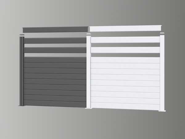 Beliebt Bohlenset für WPC Steckzaunsystem grau   Sichtschutz   Gartenzaun DW73