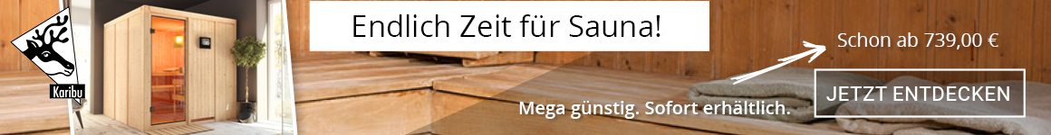 Sauna sofort verfügbar