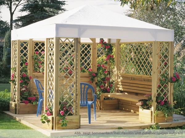 pavillon lindgren sommerdach wei br0010. Black Bedroom Furniture Sets. Home Design Ideas