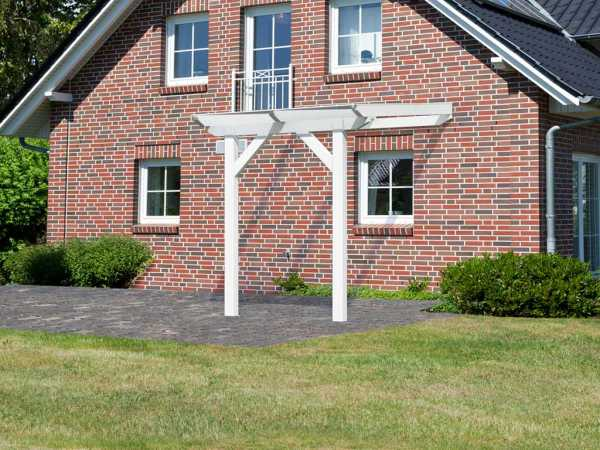 Terrassenüberdachung Modell 1 Schneeweiß