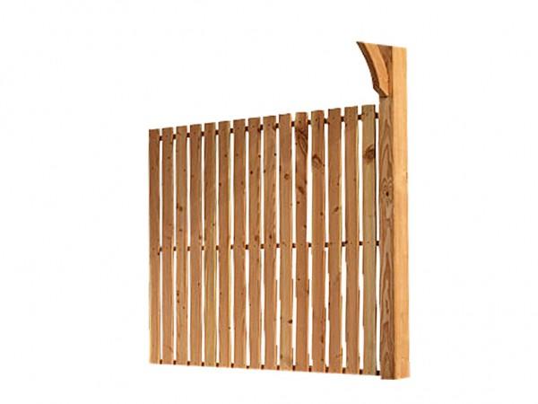 Seitenwandelement PREMIUM Douglasienholz für Terrassenüberdachung Douglasie Modell 1