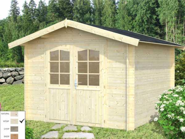 "Gartenhaus Blockbohlenhaus ""Lotta"" 7,3 m² 28 mm transparent tauchimprägniert"