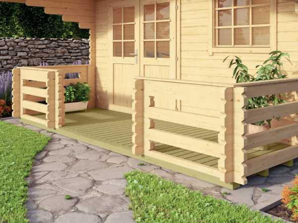 Terrasse 28 3013 für Gartenhäuser taubenblau
