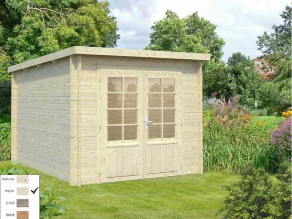 "Gartenhaus Blockbohlenhaus ""Ella"" 6,9 m² 28 mm transparent tauchimprägniert"