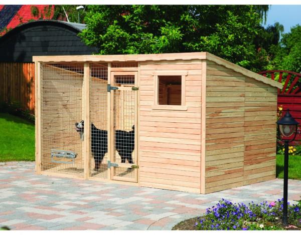 Hundezwinger XXL inkl. Fußboden und 2 x Erweiterung 2 m²