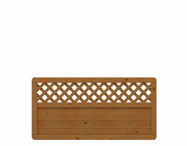 Sichtschutzzaun ARZAGO Rechteck mit Gitter braun