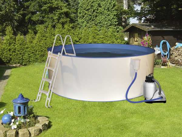 Poolset Safety mit Sandfilter Ø 4,00 x 0,90 m