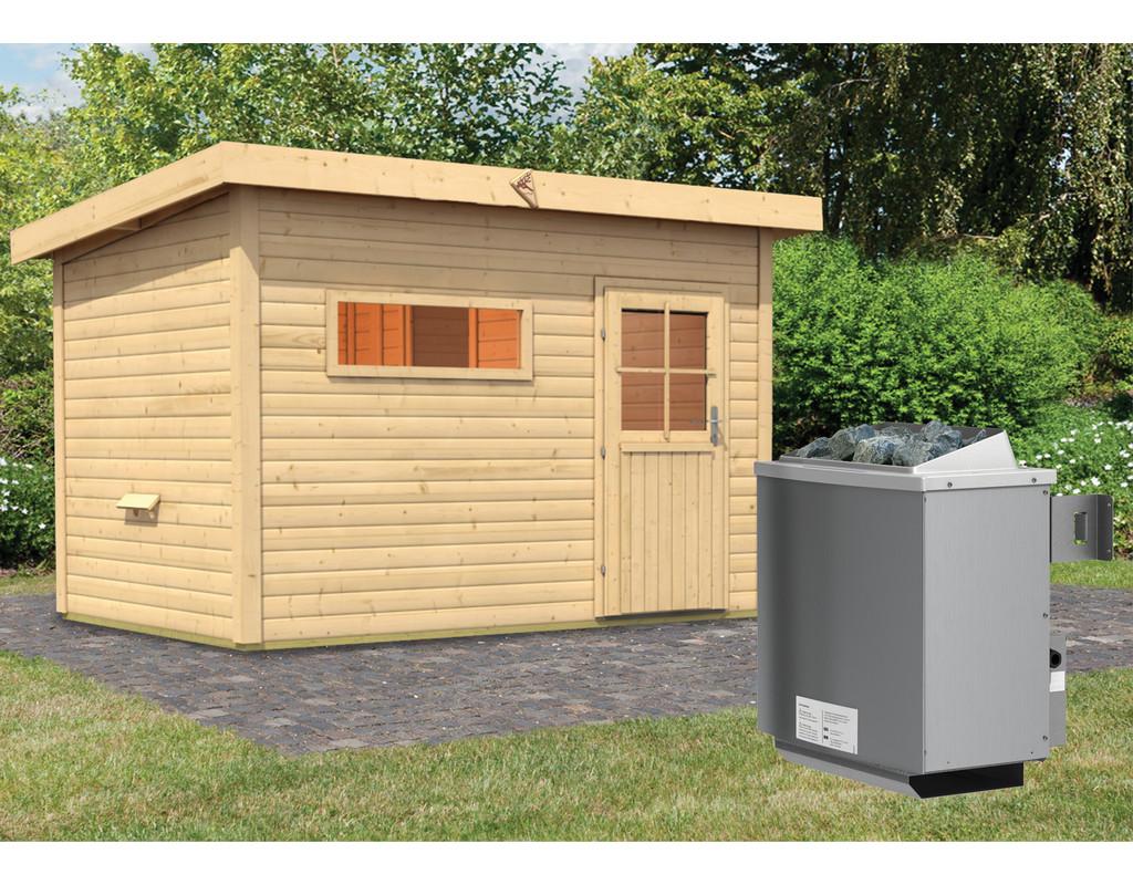 saunahaus skrollan 2 mit vorraum inkl 9 kw saunaofen integr steuerung ka4509. Black Bedroom Furniture Sets. Home Design Ideas