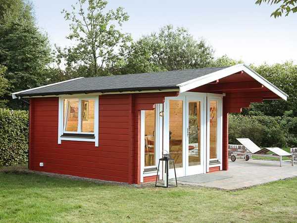 Gartenhaus Blockbohlenhaus Hammerfest 70-C XL 70 mm naturbelassen