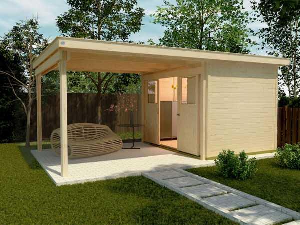 Gartenhaus 225 A Gr. 2 21 mm naturbelassen