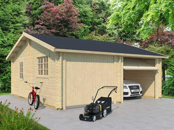Garage Falkland inkl. Schwingtor 44 mm naturbelassen