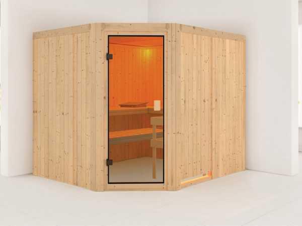 Sauna Horna mit bronzierter Glastür
