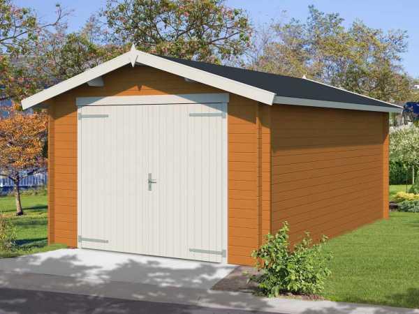 Garage Mauritius inkl. Holztor 28 mm eiche