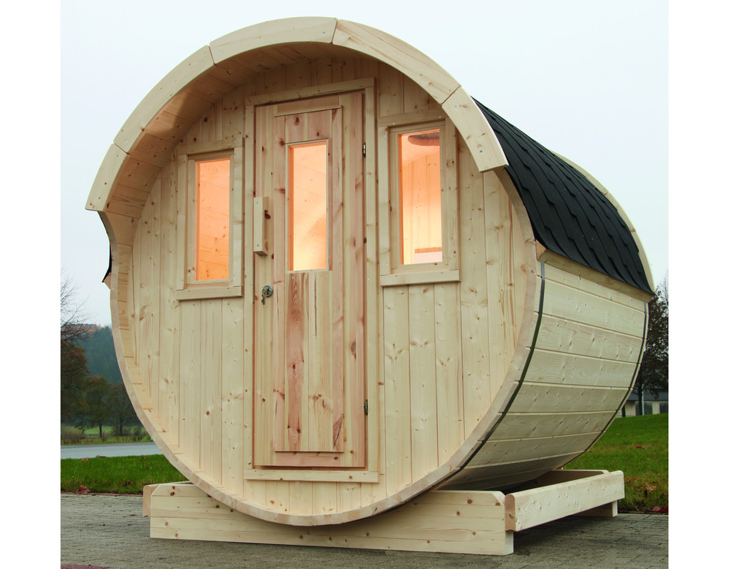 saunafass 220 bausatz schwarz 42 mm naturbelassen fass sauna au en sauna sauna holzprofi24. Black Bedroom Furniture Sets. Home Design Ideas
