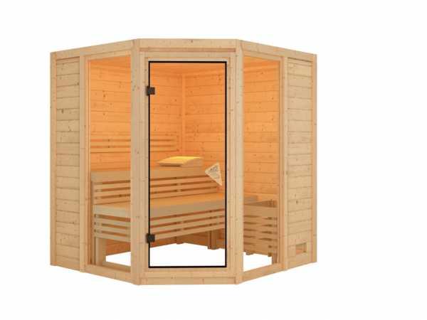 Sauna Systemsauna Carli 2 naturbelassen