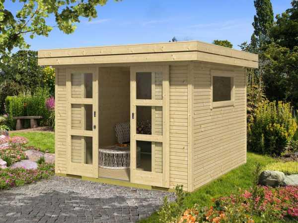 "Gartenhaus ""Faro 7"" 28 mm naturbelassen"