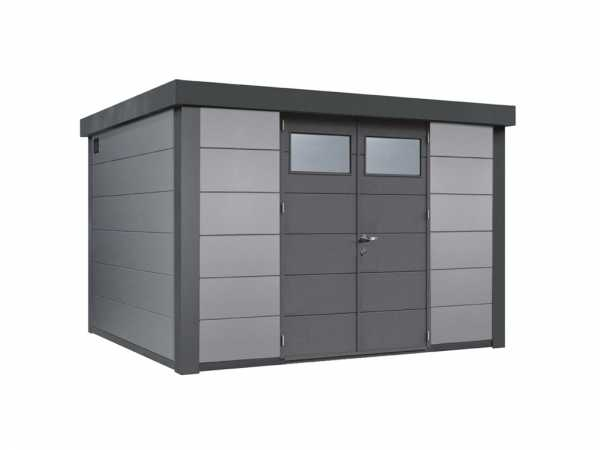Gerätehaus aus Metall Eleganto 3330 Lichtgrau